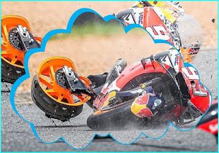 Komponen Motor MotoGP yang paling jarang rusak saat terjadi kecelakaan