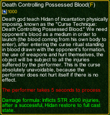naruto castle defense 6.0 Hidan Death Controlling Possessed Blood detail