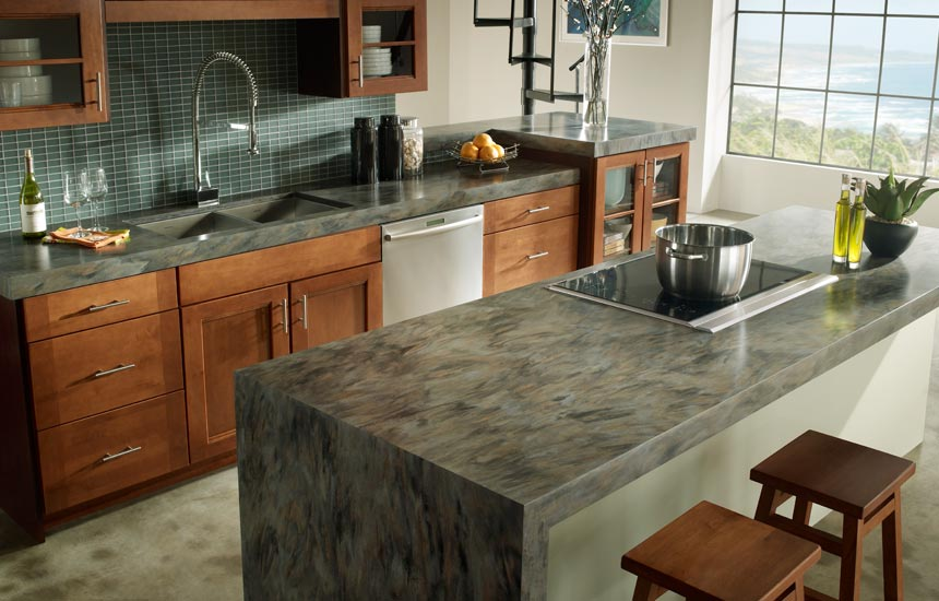 solid surface countertop for kitchen