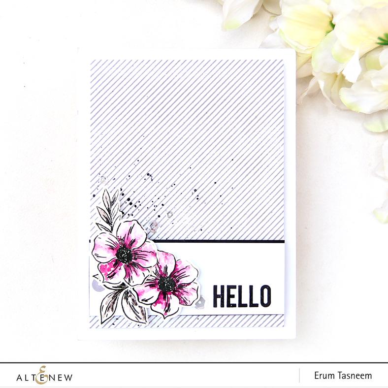 Altenew Perfectly Perfect Stamp Set | Pinstripe Stamp Set | Watercolored | Erum Tasneem | @pr0digy0