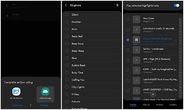 Set iPhone ringtone on Android phone