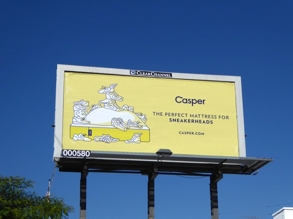 Casper perfect mattress sneakerheads billboard