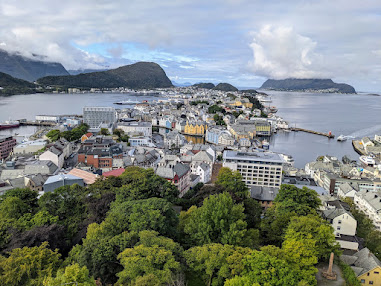 Things to do in Alesund: views from Aksla Viewpoint