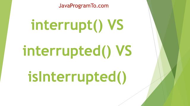 Java Thread interrupt() VS interrupted() VS isInterrupted() Examples