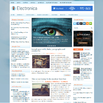 Electronica - Responsive 3 Column Free Blogger Template
