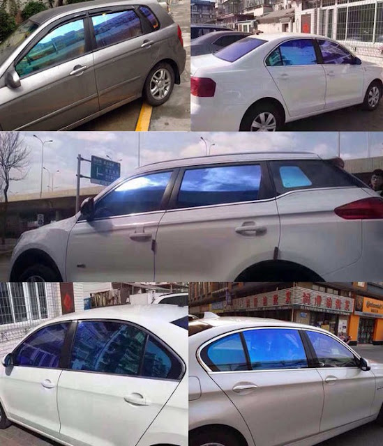 holographic star car window tint film