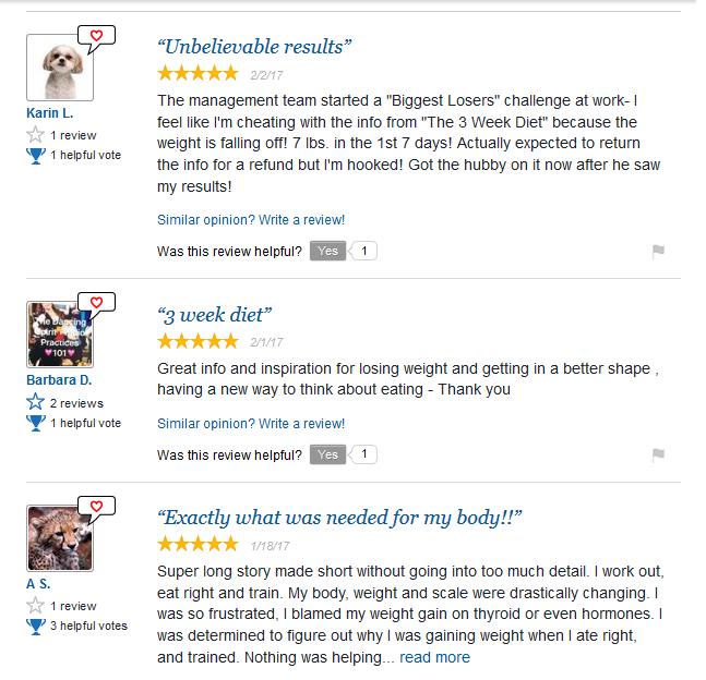 The 3 Week Diet PDF Review