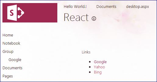 SharePoint: Read SharePoint list Items using REST API and ReactJS