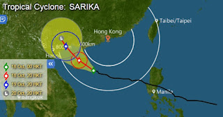 typhoon_sarika_forecast_route_map