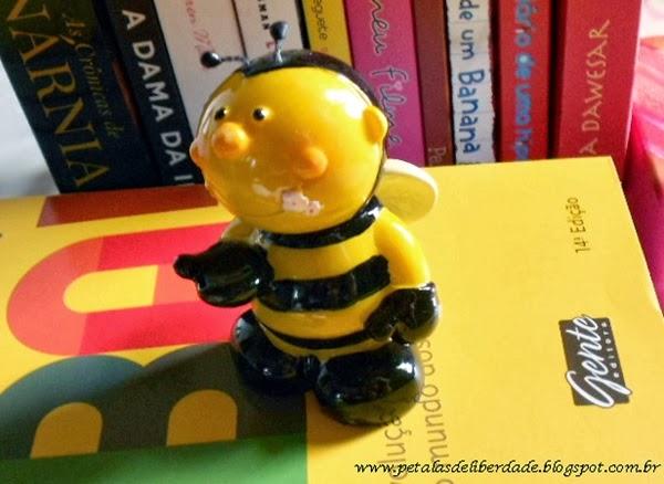 abelha, amarelo, enfeite