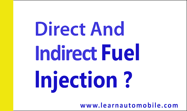 Difference between direct and indirect fuel injection