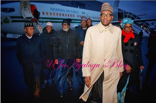 Presidential Slaying: Photo of Buhari & His Men Arriving Paris Gets Nigerians Talking