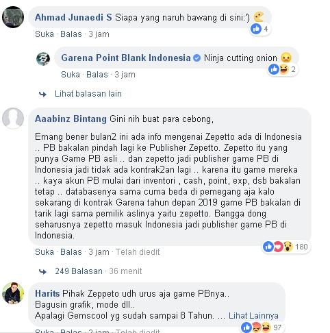 Komentar Dari Player PB
