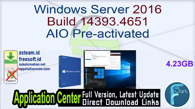 Windows Server 2016 Build 14393.4651 AIO Pre-activated
