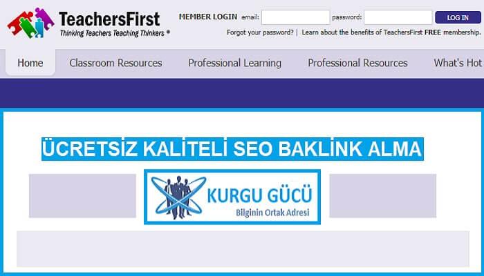TeachersFirst.com'dan Kaliteli Ücretsiz Backlink Alma Yöntemleri - Kurgu Gücü