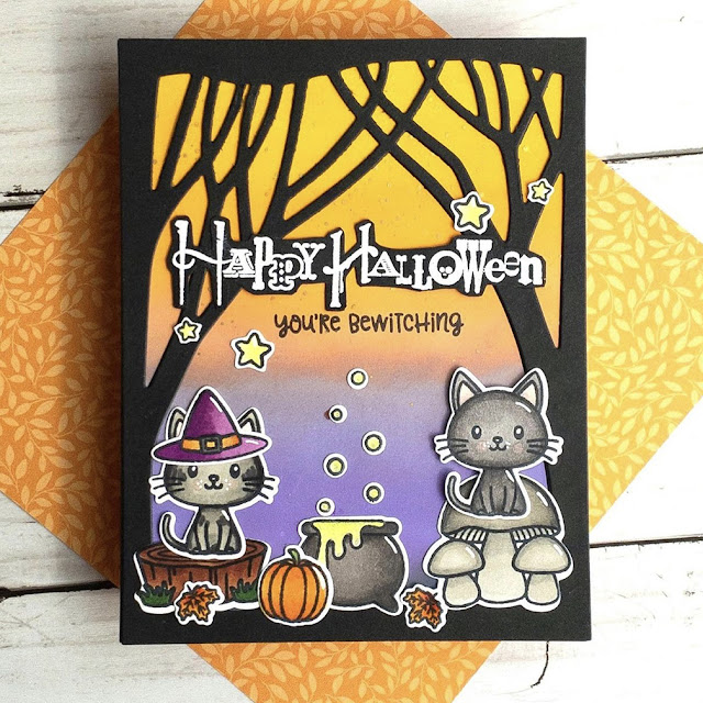 Sunny Studio Stamps: Bewitching Fall Friends Customer Card by Jen Mathis