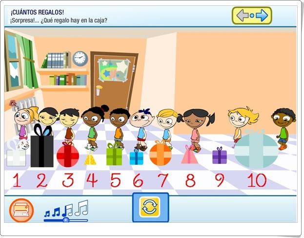 ¡Cuántos regalos! Números naturales y ordinales de Educación Infantil