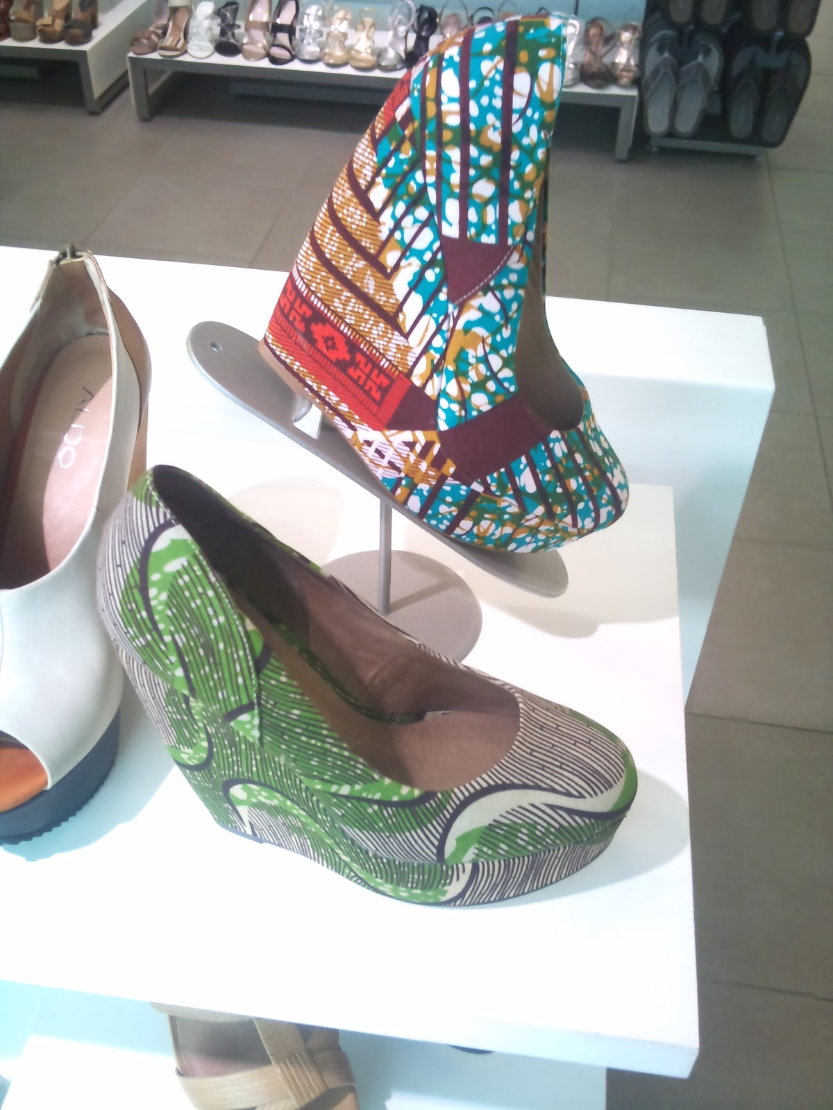 Through My Telescope African Print Shoes And Clutch Bag