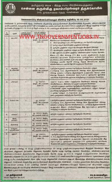 chennai-ekambareswarar-temple-posts-recruitment-2021