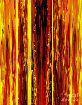 Yellow Red Brown Pattern for bestselling art on Merchandise