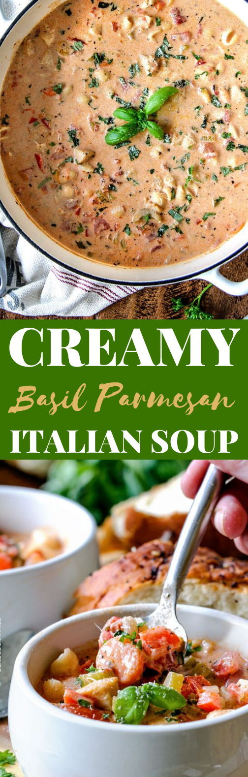 Creamy Italian Soup #dinner #recipes #soup #winter #comfortfood