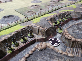 German infantry begin manning the parapets