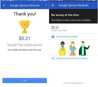 Cara Mendapatkan Uang Hanya Dari Google Survey di Android Dengan Mudah Dan Cepat.