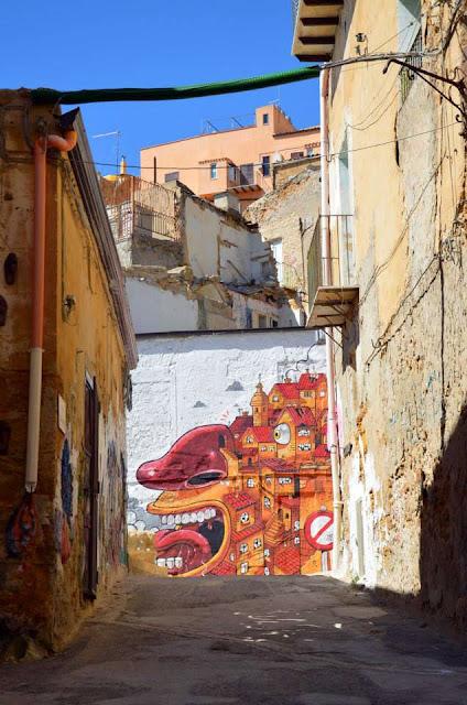 """The Scream Of Vallicaldi"" New Street Art Piece By Mr Thoms In Sicily. 5"