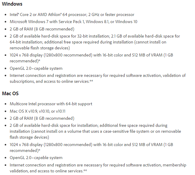 adobe after effects cs6 system requirements