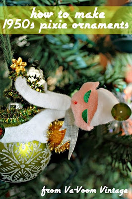 how to make a 1950s pixie christmas ornament