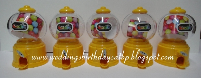 Weddings Birthdays Atbp Mini Gumball Machines