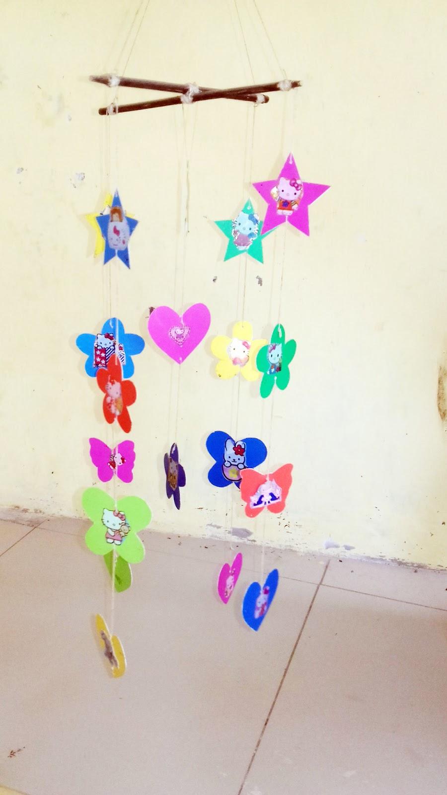 Cara Membuat Hiasan Dinding Dari Kertas Warna Warni Blog