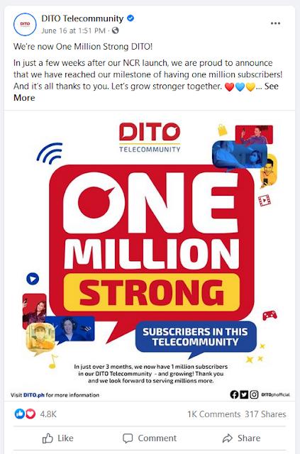 DITO 1 Million Subs
