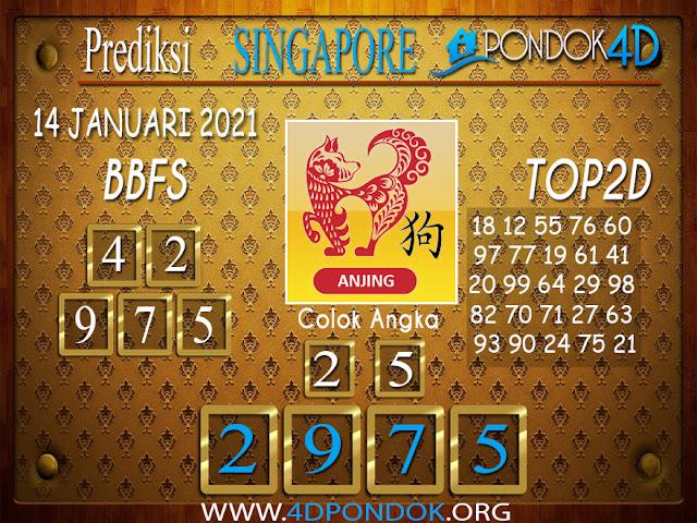 Prediksi Togel SINGAPORE PONDOK4D 14 JANUARI 2021