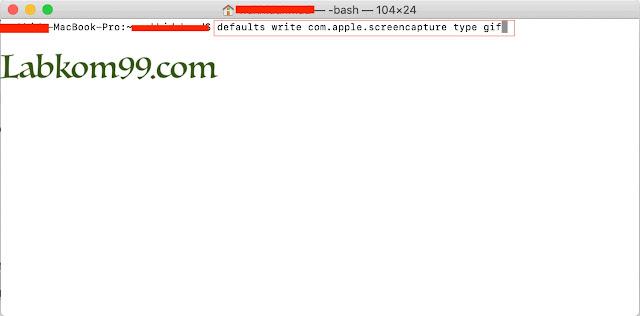 Mengatur Default Format Gambar Screenshot MacBook