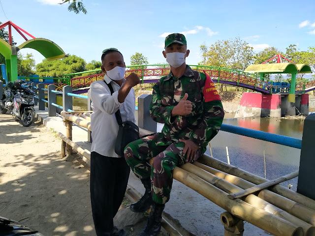 Babinsa Cawas Promosikan Potensi Wilayah Obyek Wisata Jembatan Pelangi