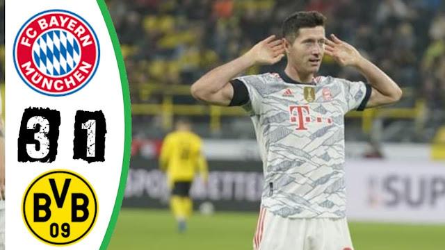 ملخص واهداف مباراة بايرن ميونخ وبوروسيا دورتموند اليوم 3-1 نهائي السوبر الالماني