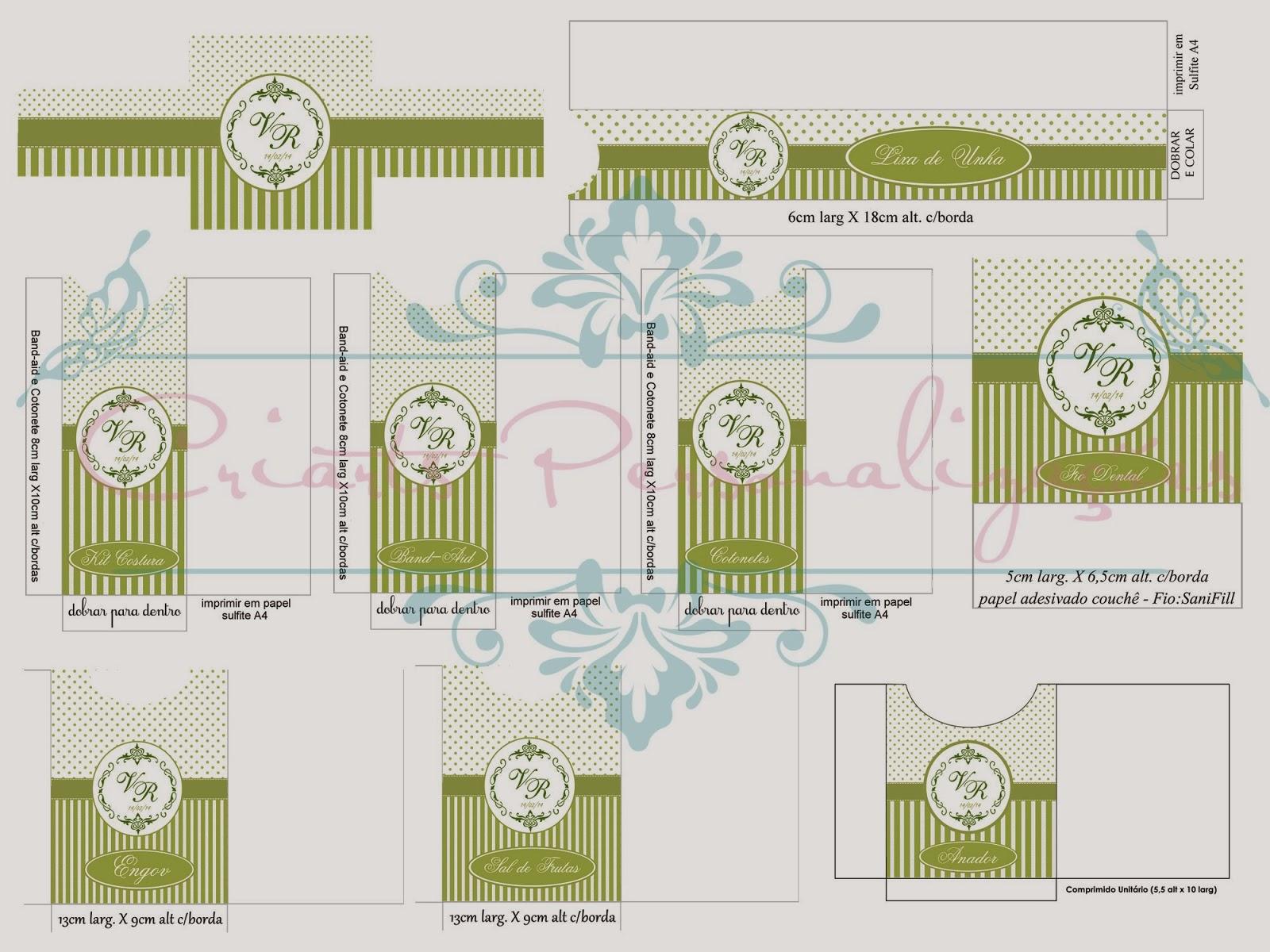 Criarts Personalizacoes Kit Para Banheiro Verde