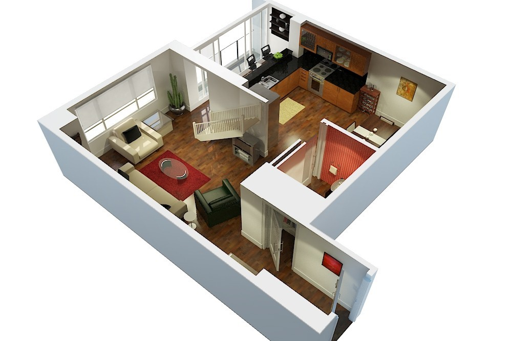3D Floor Plan  Creative 2