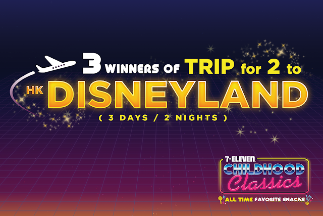 7-Eleven Childhood Classics 3 Winners of Trip for 2 to Hong Kong Disneyland!
