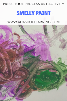smelly paint: preschool process art activity