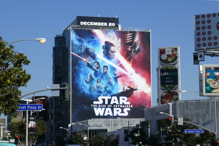 Giant Star Wars Rise of Skywalker billboard