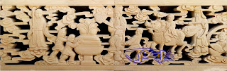 Roster / Loster untuk ventilasi udara motif gambar delapan dewa yang dibuat dari batu alam putih atau juga di sebut paras jogja