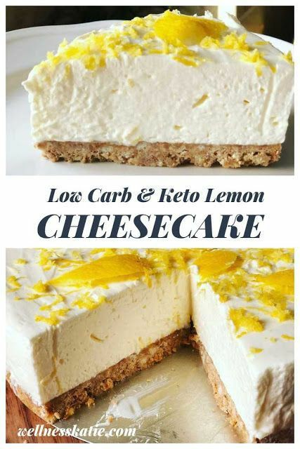 Low Carb & Keto Lemon Cheesecake Recipe