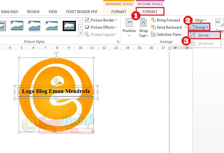 Cara menggabungkan text box dan gambar