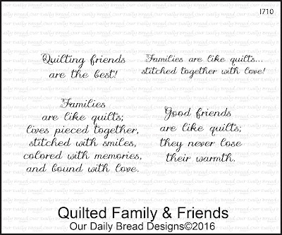 Our Daily Bread Designs Stamp Set: Quilted Family and Friends