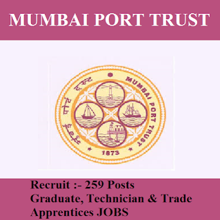 Mumbai Port Trust, freejobalert, Sarkari Naukri, Mumbai Port Trust Answer Key, Answer Key, mumbai port trust logo