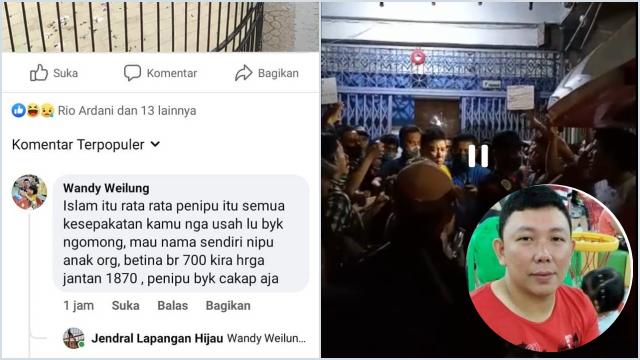 Bikin Marah Warga, Pria Tionghoa Diduga Penista Agama Ditangkap Polisi di Medan