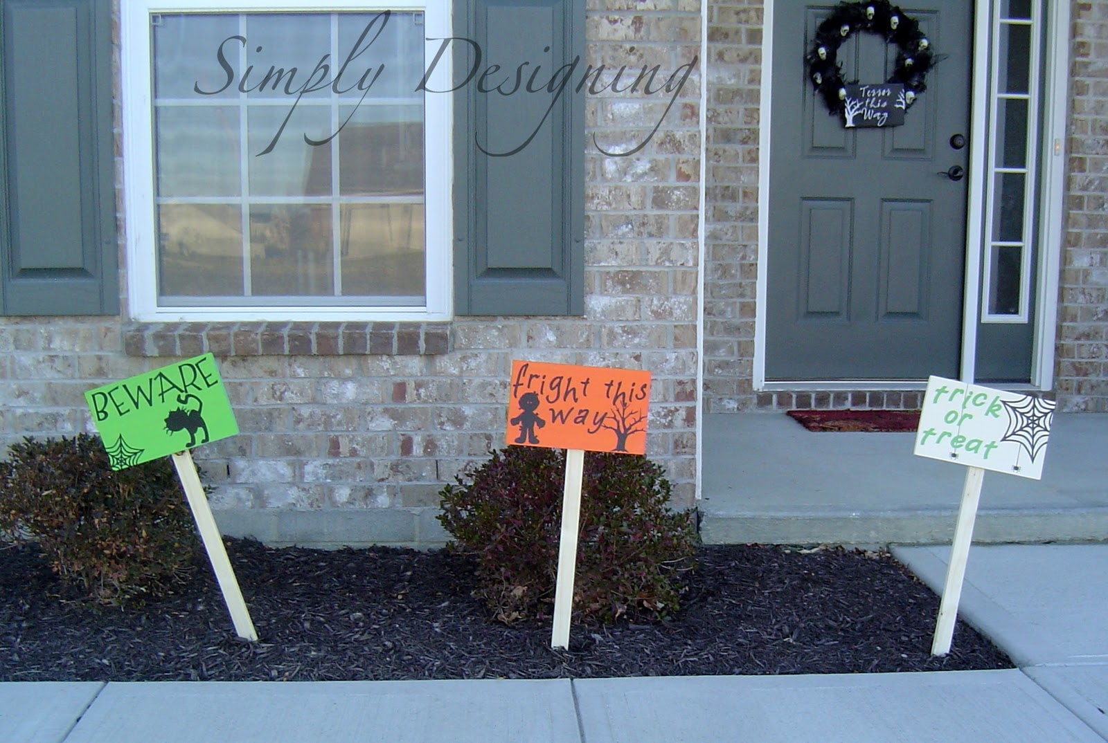 halloween stake signs