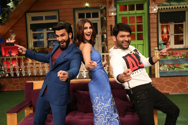 Ranveer Singh and Vaani Kapoor have a blast on The Kapil Sharma Show